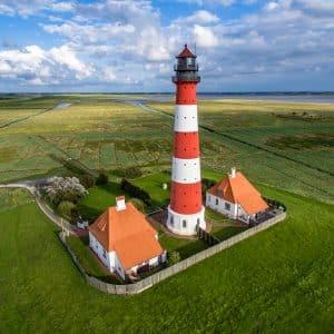 Aerial Photography | Leuchtturm In Westerheversand | Airborne Visuals